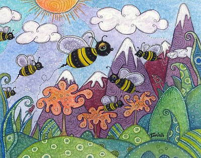 Bumble Bee Buzz Art Print