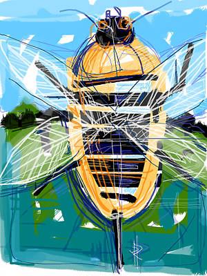 Digital Art - Bumble Bee by Russell Pierce