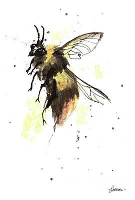 Painting - Bumblebee by Angel Ciesniarska
