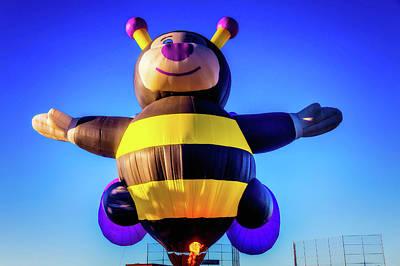 Bumblebee Hot Air Balloon Art Print