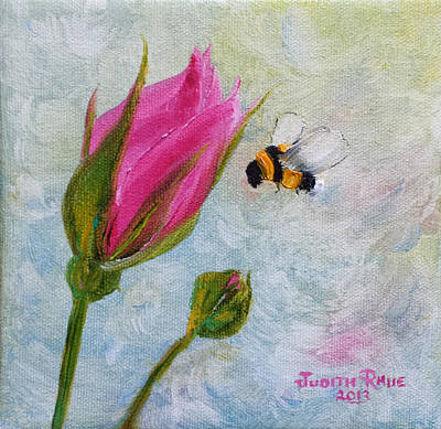 Painting - Bumblebee Hover by Judith Rhue