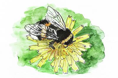 Painting - Bumblebee by Masha Batkova