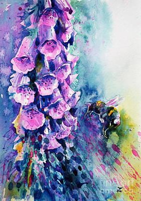 Painting - Bumblebee Meditation by Zaira Dzhaubaeva