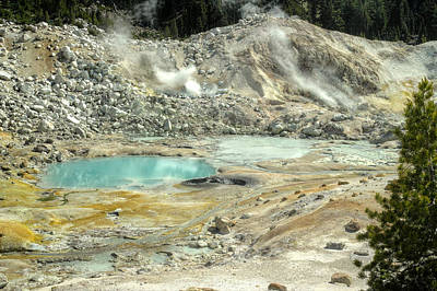 Photograph - Bumpass Hell  by Peter Dyke