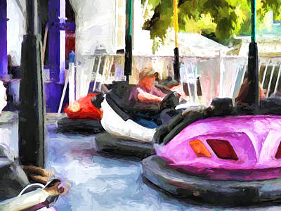 Painting - Bumper Cars by Cathy Jourdan