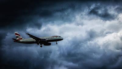 Passenger Plane Photograph - Bumpy Landing by Martin Newman