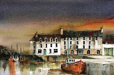 Painting - Bun Beg Harbour Donegal by Val Byrne