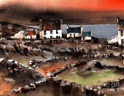 Painting - Bun Gowla, Inish More, Aran, Galway by Val Byrne