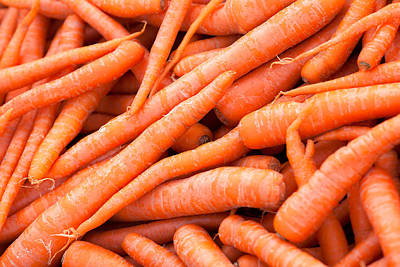 Bunch Of Carrots Print by Todd Klassy