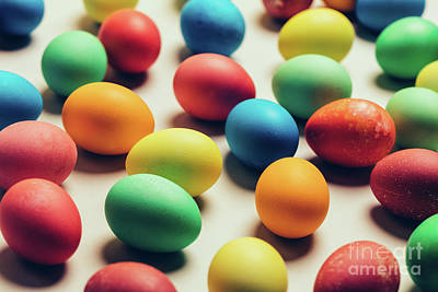 Photograph - Bunch Of Colorful Eggs Laying On The Ground. by Michal Bednarek