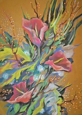 Bunch Of Flowers Art Print by Olena Chernyshova