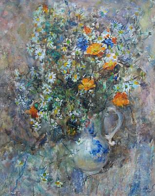Naturmort Painting - Bunch Of Flowers by Svetlana Anoshkina