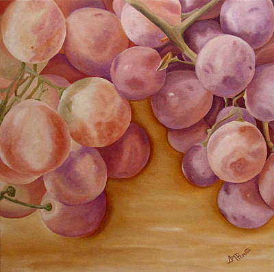 Red Wine Painting - Bunch Of Grapes by Angeles M Pomata