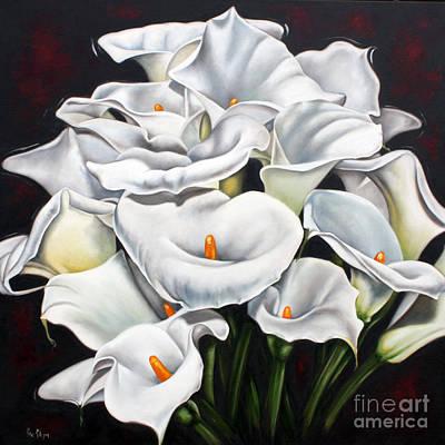 Bunch Of Lilies Art Print by Ilse Kleyn