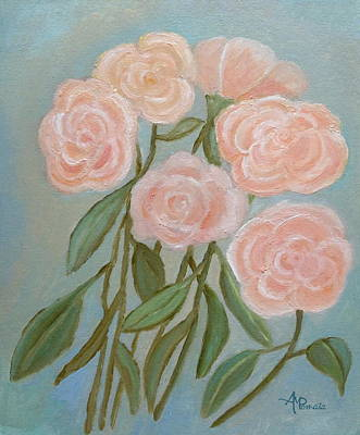Rosaceae Painting - Bunch Of Roses by Angeles M Pomata