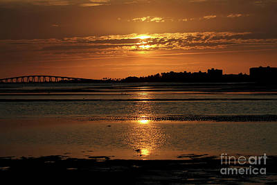 Photograph - Bunche Beach Sunset by Meg Rousher