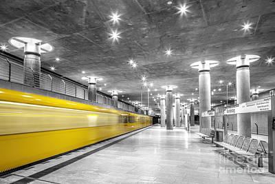 Bundestag U Bahn Station, Berlin, Germany Print by Julie Woodhouse