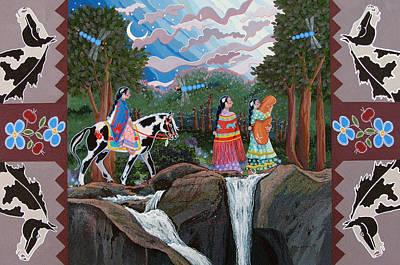 Painting - Bundle Moon II by Chholing Taha