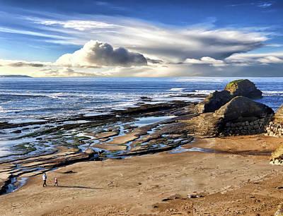 Digital Art - Bundoran Beach And Rougey Rocks by John Carver