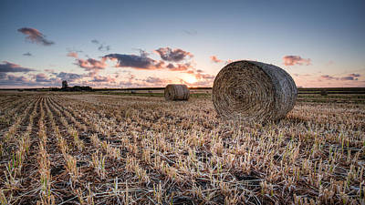 Photograph - Bundy Hay Bales #4 by Brad Grove