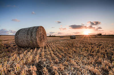 Photograph - Bundy Hay Bales #5 by Brad Grove