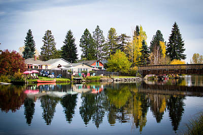 bungalows on the Deschutes Art Print