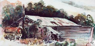 Painting - Buninyong Dairy by Ryn Shell