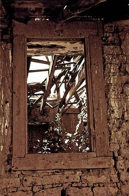 Photograph - Bunk House Window by Amanda Smith
