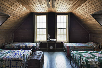Bed Quilts Photograph - Bunk Room Indian River Life Saving Station by John Greim