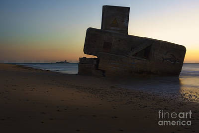 Photograph - Bunker And Sancti Petri Lighthouse San Fernando Cadiz Spain by Pablo Avanzini