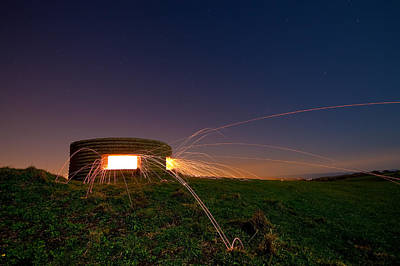 Photograph - Bunker Explosion by Will Gudgeon