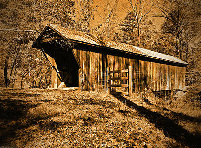 Photograph - Bunker Hill Covered Bridge by Ben Prepelka