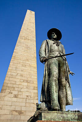 Photograph - Bunker Hill Memorial by Brian Jannsen