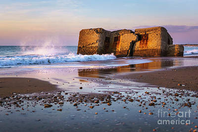 Photograph - Bunker In Camposoto Beach San Fernando Cadiz Spain by Pablo Avanzini