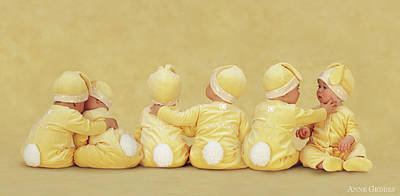 Easter Bunny Photograph - Bunnies by Anne Geddes
