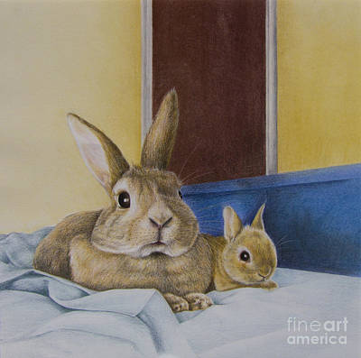 Social Commentary Painting - Bunnies Big And Small by Phil Welsher
