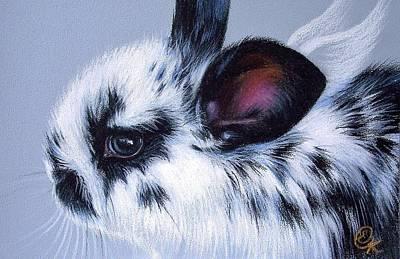 Wall Art - Mixed Media - Bunny Angel by Elena Kolotusha