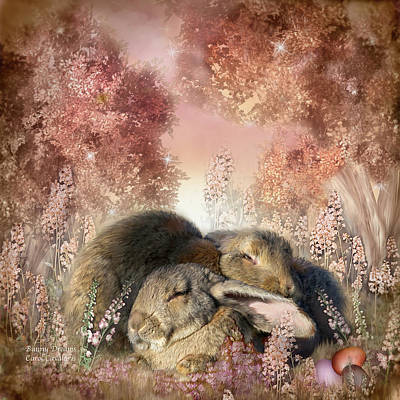 Mixed Media - Bunny Dreams by Carol Cavalaris