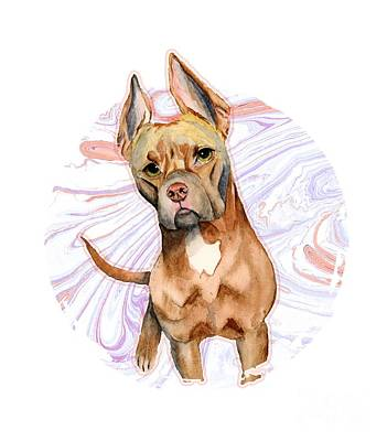 Watercolor Pet Portraits Mixed Media - Bunny Ears 2 by NamiBear