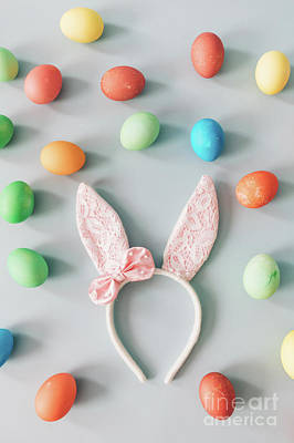 Photograph - Bunny Ears Surrounded By Easter Eggs. by Michal Bednarek