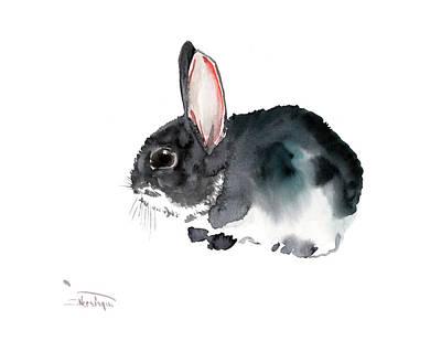 Painting - Bunny, Eastern Bunny, Children Room Art,  by Suren Nersisyan