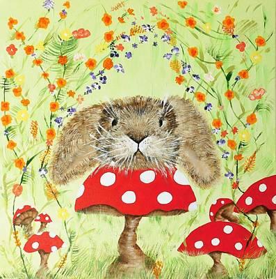 Bunny Garden Original by Susan Wooler