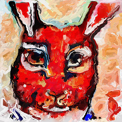 Bunny Head Art Print