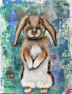 Wall Art - Painting - Bunny Honey by Carol Iyer