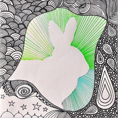Bunny Is Always The Star Art Print