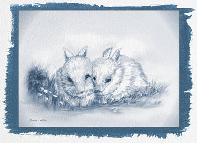 Drawing - Bunny Love by Bonnie Willis