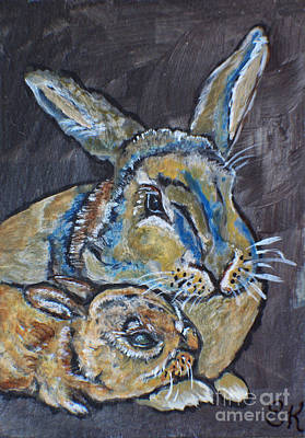Painting - Bunny Love Looks Like by Ella Kaye Dickey
