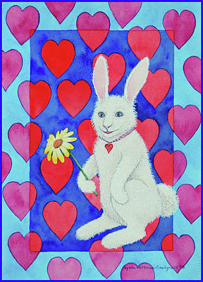 Painting - Bunny Love by Lynda Hoffman-Snodgrass