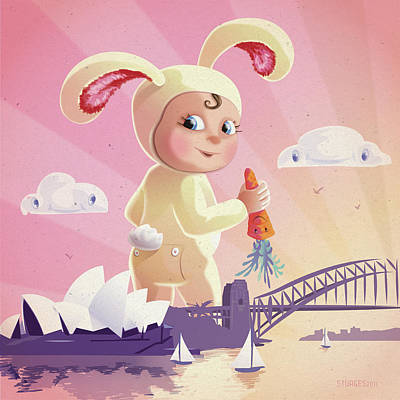 Bunny Mae Art Print by Simon Sturge