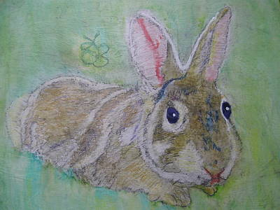 Drawing - bunny named Rocket by AJ Brown
